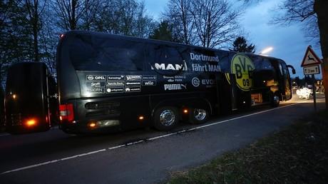 حافلة فريق بوروسيا دورتموند بعد الانفجارات