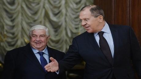 الوزيران سيرغي لافروف ووليد المعلم