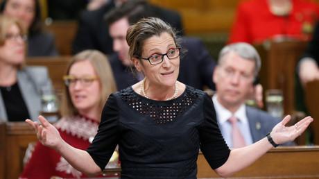 وزيرة الخارجية الكندية