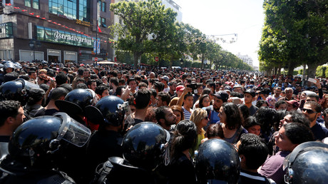احتجاجات في تونس