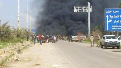 تفجير منطقة الراشدين في حلب