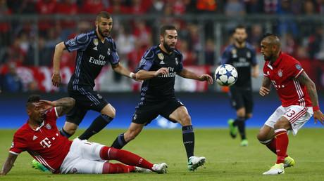 من مباراة الذهاب بين ريال مدريد وبايرن ميونخ