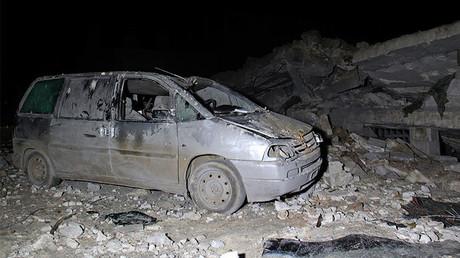 قرية الجينة السورية بعد ضربة مسجدها