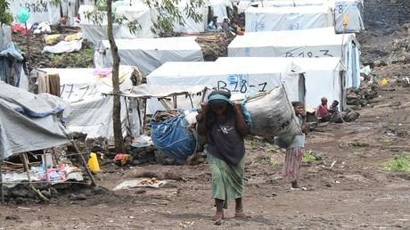 مخيم اللاجئين في مدينة جوما (أرشيف)