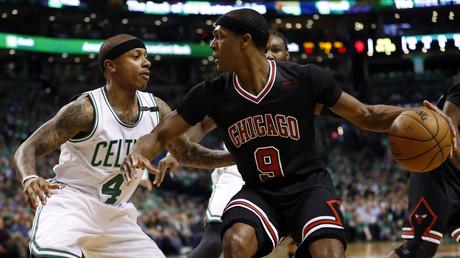 من مباراة شيكاغو مع بوسطن