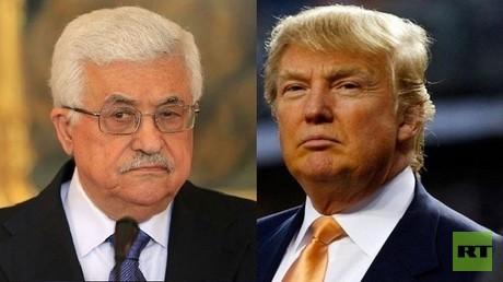الرئيس الأمريكي، دونالد ترامب ونظيره الفلسطيني، محمود عباس