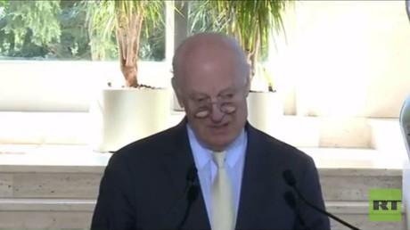 مؤتمر صحفي للمبعوث الأممي إلى سوريا ستيفان دي ميستورا