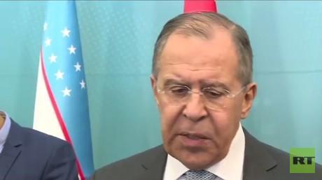 مؤتمر صحفي لوزير الخارجية الروسي سيرغي لافروف