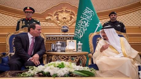 الملك سلمان بن عبد العزيز والرئيس عبد الفتاح السيسي