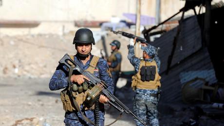 عناصر من الشرطة الفدرالية العراقية بغرب الموصل