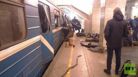 آثار تفجير سان بطرسبورغ