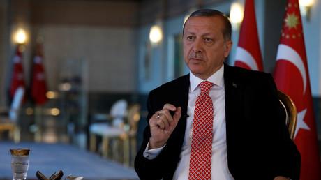 الرئيس التركي، رجب طيب أردوغان (15 أبريل/نيسان).
