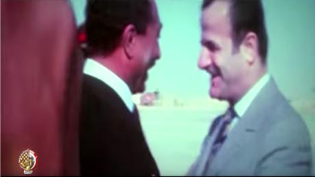 الرئيسان الراحلان السوري حافظ الأسد والمصري محمد أنور السادات