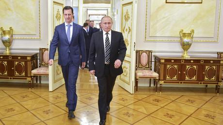 الرئيسان الروسي فلاديمير بوتين والسوري بشار الأسد