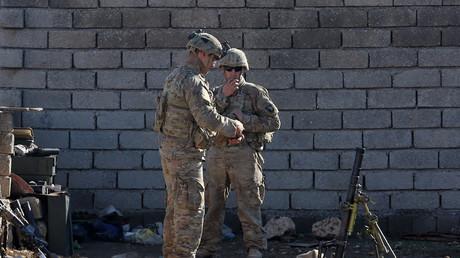 جنديان أمريكيان قرب الموصل في العراق - 2016