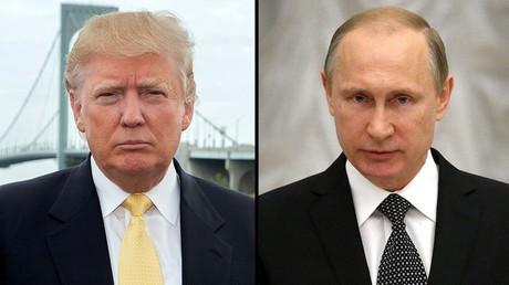 الرئيسان فلاديمير بوتين و دونالد ترامب