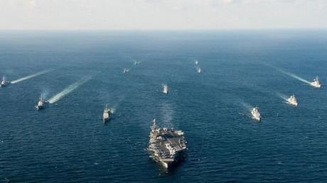 بدء المناورات البحرية الأمريكية الكورية الجنوبية في بحر اليابان