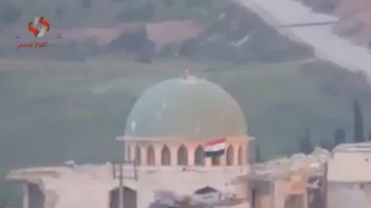 رفع العلم السوري فوق مرعناز بريف عفرين