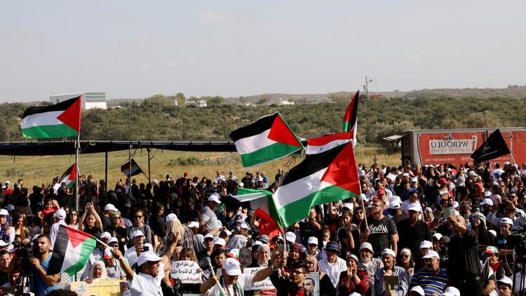 مسيرة فلسطينية داخل إسرائيل تطالب بحق العودة