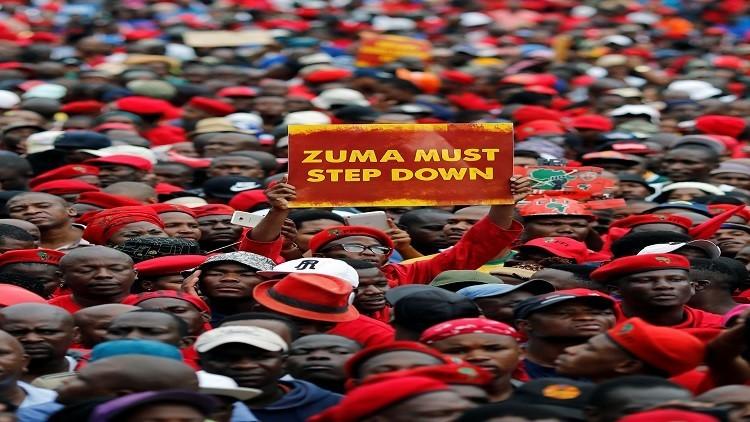 رئيس جنوب أفريقيا: أجهل لماذا يتظاهر الشعب
