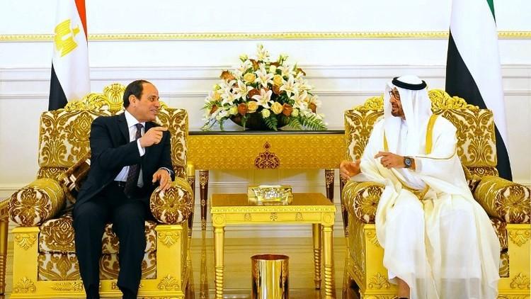 السيسي يبحث مع آل نهيان الإرهاب والتدخلات الخارجية