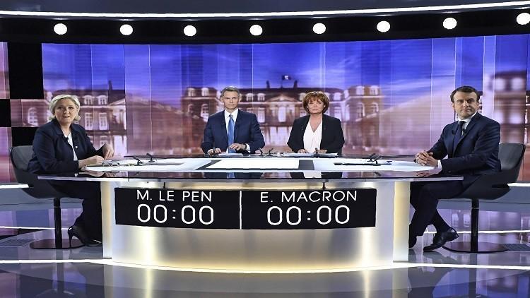 ماكرون يتفوق على لوبان خلال مناظرة تلفزيونية حاسمة قبل 3 أيام من الانتخابات