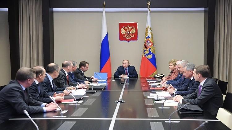 بوتين يبحث مع مجلس الأمن القومي مناطق وقف التصعيد في سوريا