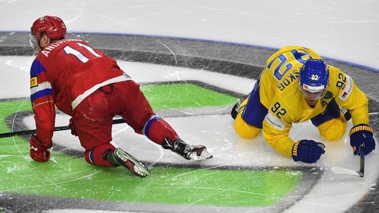 روسيا تفوز على السويد في مونديال هوكي الجليد