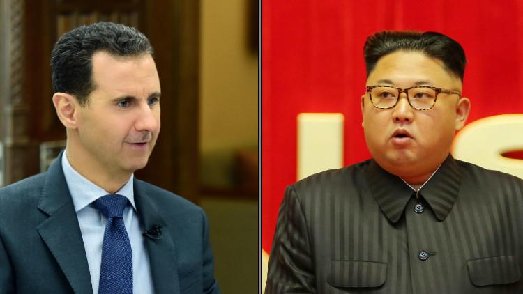الأسد يبعث برسالة إلى رئيس كوريا الشمالية