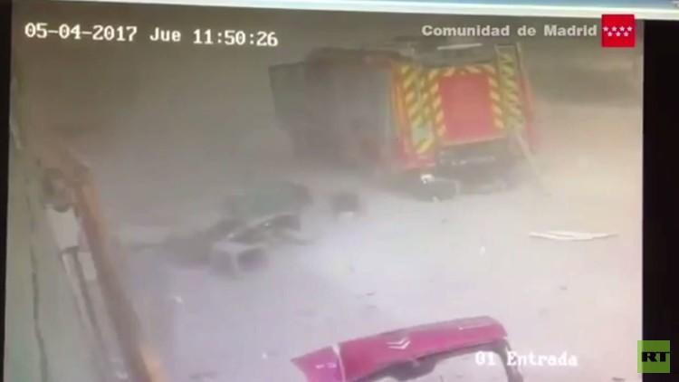 بالفيديو.. شاهد لحظة وقوع انفجار مروع قرب مدريد