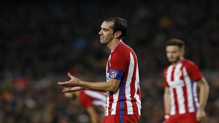 إيقاف جودين مدافع أتلتيكو مدريد ثلاث مباريات
