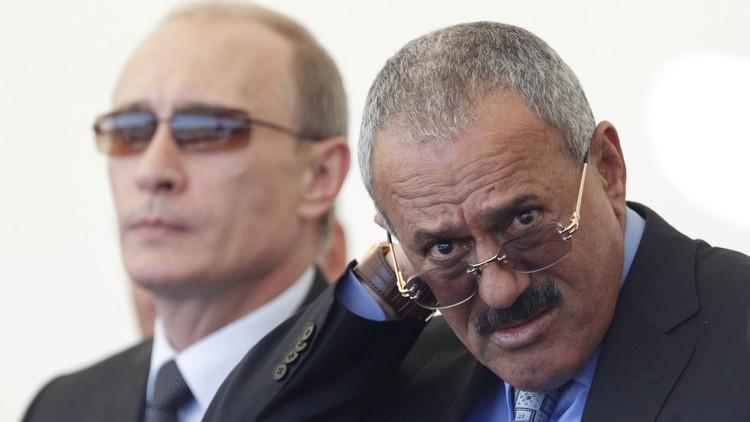 علي عبد الله صالح يدعو بوتين لاتخاذ موقف حازم بشأن اليمن