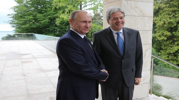 بوتين يدعو إيطاليا للمشاركة في تنويع مسارات الغاز إلى أوروبا