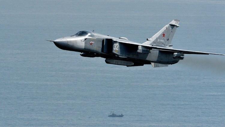 قاذفات روسية تحلق فوق  فرقاطة تابعة للناتو