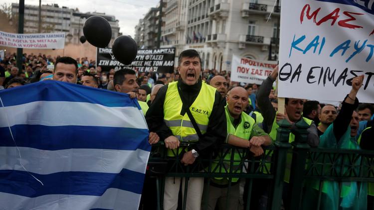 إضراب عام في اليونان لإنهاء التقشف