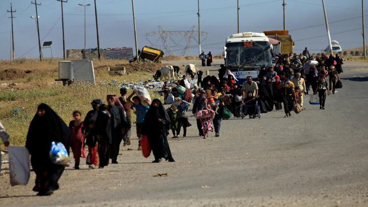 الأمم المتحدة تتوقع فرار 200 ألف شخص آخرين من الموصل