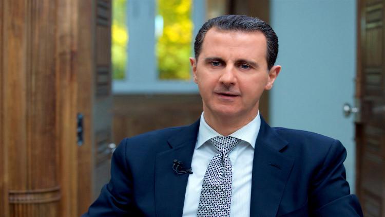 الأسد يتلقى رسالة من العبادي بخصوص الحدود المشتركة بين البلدين