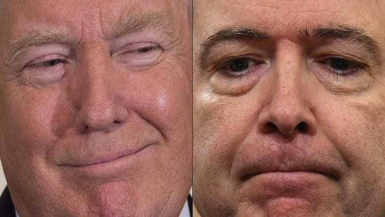 خيوط بيت العنكبوت تطوّق رأسي ترامب وغريمه كومي