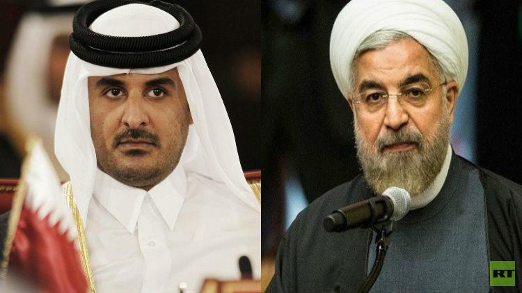اتصال هاتفي بين الرئيس الإيراني وأمير قطر