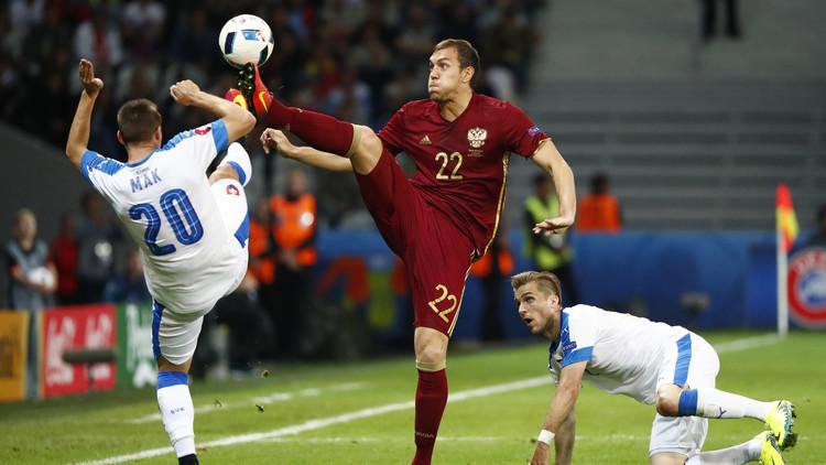 المنتخب الروسي يخسر جهود مهاجمه دزيوبا