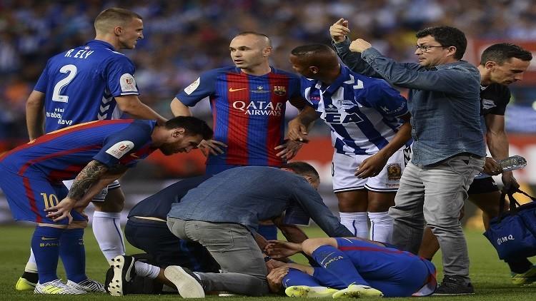 برشلونة يحدد مدة غياب ماسكيرانو