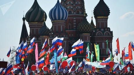 مسيرة عيد العمال في موسكو