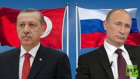 الرئيسان فلاديمير بوتين ورجب طيب أردوغان
