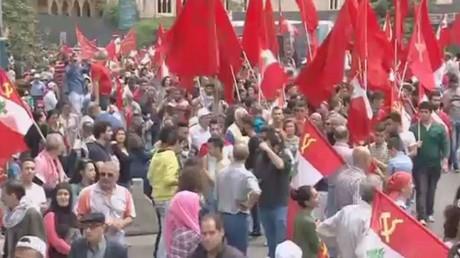 لبنان ... الشيوعي يتظاهر في عيد العمال