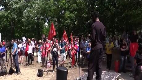 تظاهرات بأمريكا بمناسبة عيد العمال