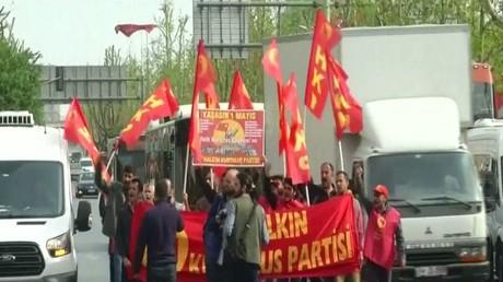 مواجهات مع الشرطة في يوم العمال باسطنبول
