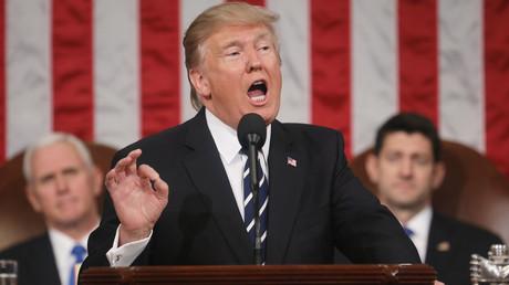 الرئيس الأمريكي دونالد ترامب أمام الكونغرس - أرشيف