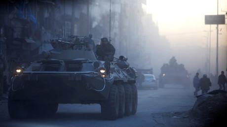 عسكريون روس في مدينة حلب (أرشيف)