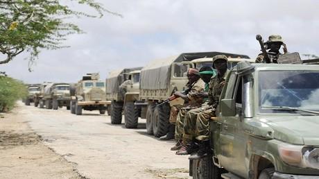 أرشيف، وحدات من بعثة الاتحاد الإفريقي في الصومال في مهمة