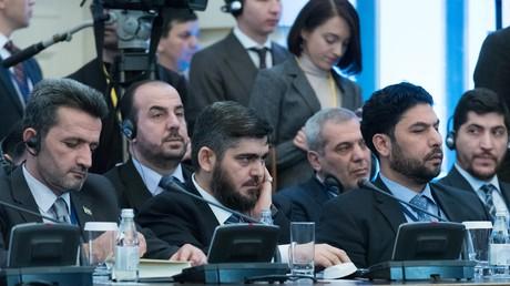 وفد المعارضة السورية المسلحة فى أستانا